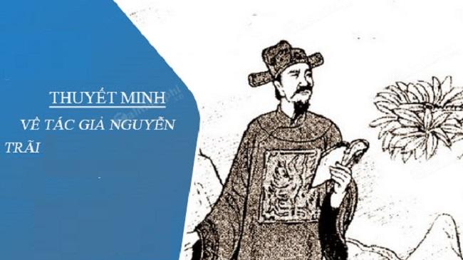 Dàn Ý và Văn Mẫu Thuyết Minh Về Tác Giả Nguyễn Trãi