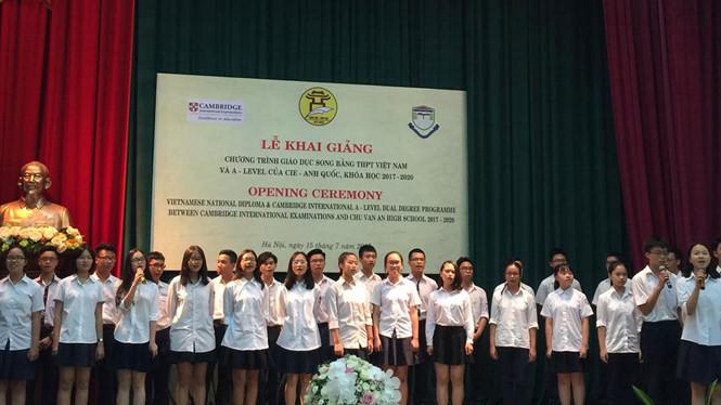 Học Phí Trường THPT Chu Văn An Hà Nội và Trương Trình Song Bằng