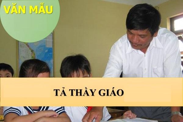 Bài Văn Tả Thầy Giáo Của Học Sinh Giỏi Lớp 5 năm 2019