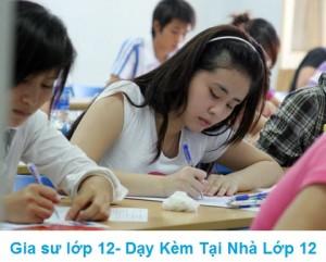 Gia sư lớp 12 tại nhà dạy Toán Lý Hóa, Anh, Văn lớp 12
