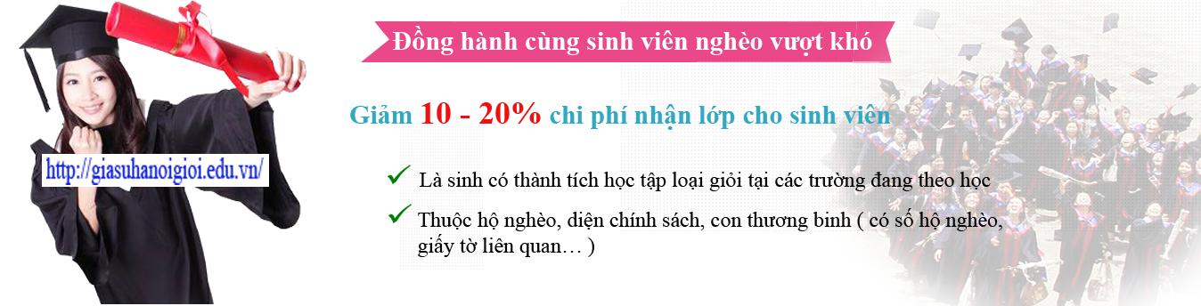 Slide trung tâm gia sư uy tín tại Hà Nội hỗ trợ sinh viên nghèo