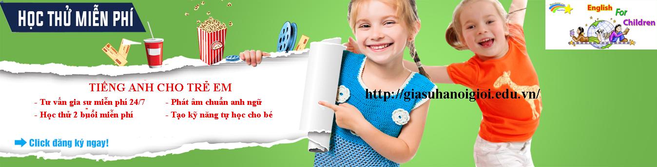 Trung gia sư tiếng Anh trẻ em